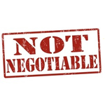 not-negotiable